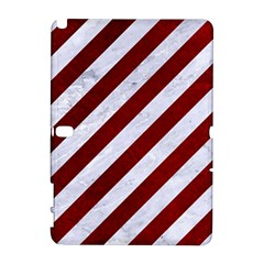 Stripes3 White Marble & Red Grunge (r) Galaxy Note 1