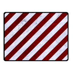 Stripes3 White Marble & Red Grunge (r) Double Sided Fleece Blanket (small)  by trendistuff