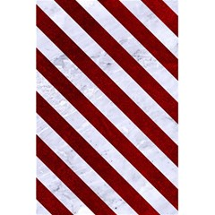Stripes3 White Marble & Red Grunge 5 5  X 8 5  Notebooks by trendistuff