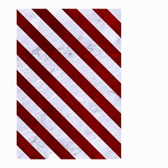 Stripes3 White Marble & Red Grunge Small Garden Flag (two Sides) by trendistuff