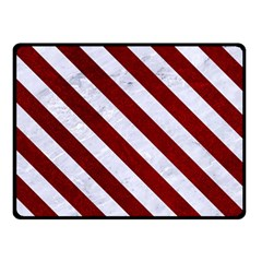 Stripes3 White Marble & Red Grunge Double Sided Fleece Blanket (small)  by trendistuff