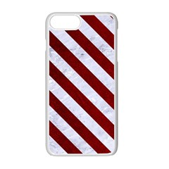 Stripes3 White Marble & Red Grunge Apple Iphone 7 Plus Seamless Case (white) by trendistuff