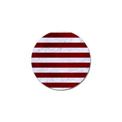 Stripes2white Marble & Red Grunge Golf Ball Marker (10 Pack) by trendistuff