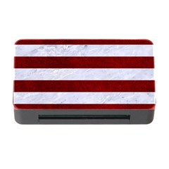 Stripes2white Marble & Red Grunge Memory Card Reader With Cf by trendistuff