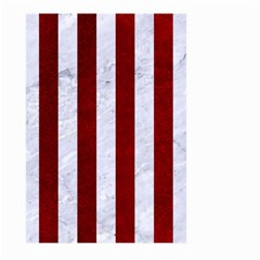 Stripes1 White Marble & Red Grunge Large Garden Flag (two Sides) by trendistuff