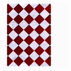 Square2 White Marble & Red Grunge Large Garden Flag (two Sides) by trendistuff