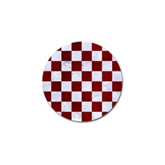 Square1 White Marble & Red Grunge Golf Ball Marker (10 Pack) by trendistuff