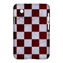 Square1 White Marble & Red Grunge Samsung Galaxy Tab 2 (7 ) P3100 Hardshell Case