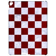 Square1 White Marble & Red Grunge Apple Ipad Pro 12 9   Hardshell Case by trendistuff