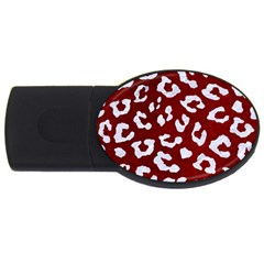 Skin5 White Marble & Red Grunge (r) Usb Flash Drive Oval (4 Gb) by trendistuff