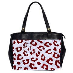 Skin5 White Marble & Red Grunge Office Handbags (2 Sides)  by trendistuff