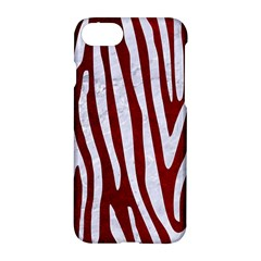 Skin4 White Marble & Red Grunge (r) Apple Iphone 7 Hardshell Case by trendistuff