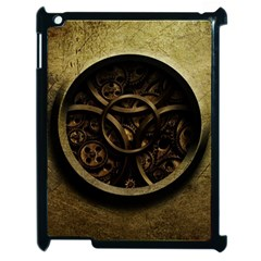 Abstract Steampunk Textures Golden Apple Ipad 2 Case (black)