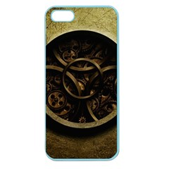 Abstract Steampunk Textures Golden Apple Seamless Iphone 5 Case (color) by Sapixe