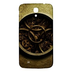 Abstract Steampunk Textures Golden Samsung Galaxy Mega I9200 Hardshell Back Case