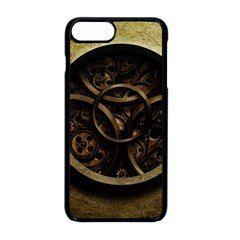 Abstract Steampunk Textures Golden Apple Iphone 8 Plus Seamless Case (black)