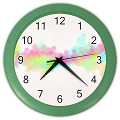 Abstract Color Pattern Colorful Color Wall Clocks