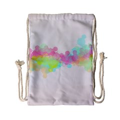 Abstract Color Pattern Colorful Drawstring Bag (small)