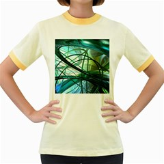 Abstract Women s Fitted Ringer T Shirts