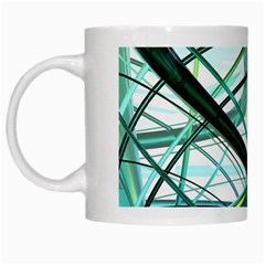 Abstract White Mugs
