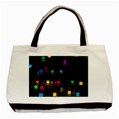 Abstract 3d Cg Digital Art Colors Cubes Square Shapes Pattern Dark Basic Tote Bag (two Sides)