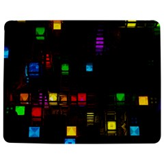 Abstract 3d Cg Digital Art Colors Cubes Square Shapes Pattern Dark Jigsaw Puzzle Photo Stand (rectangular)