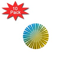 Abstract Art Art Radiation 1  Mini Magnet (10 Pack)