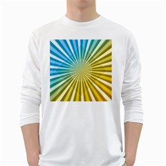 Abstract Art Art Radiation White Long Sleeve T-shirts