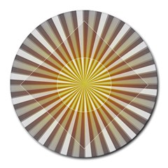 Abstract Art Art Modern Abstract Round Mousepads by Sapixe