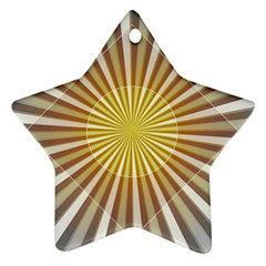 Abstract Art Art Modern Abstract Star Ornament (two Sides)