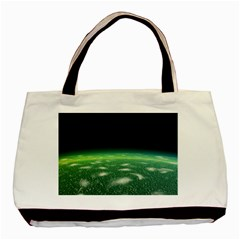 Alien Orbit Basic Tote Bag