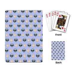 Alien Pattern Playing Card