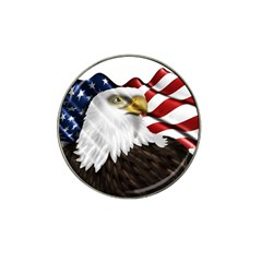 American Eagle Flag Sticker Symbol Of The Americans Hat Clip Ball Marker (4 Pack)