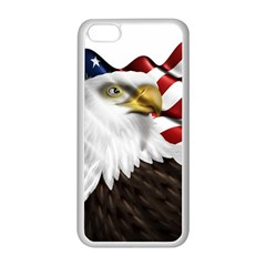 American Eagle Flag Sticker Symbol Of The Americans Apple Iphone 5c Seamless Case (white) by Sapixe