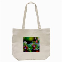 Alien Orchids Floral Art Photograph Tote Bag (cream)