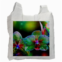 Alien Orchids Floral Art Photograph Recycle Bag (one Side)