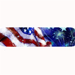American Flag Red White Blue Fireworks Stars Independence Day Large Bar Mats