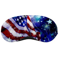 American Flag Red White Blue Fireworks Stars Independence Day Sleeping Masks by Sapixe