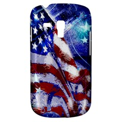 American Flag Red White Blue Fireworks Stars Independence Day Galaxy S3 Mini by Sapixe