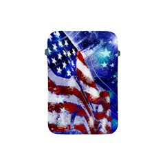 American Flag Red White Blue Fireworks Stars Independence Day Apple Ipad Mini Protective Soft Cases by Sapixe