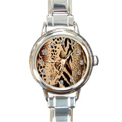 Animal Fabric Patterns Round Italian Charm Watch by Sapixe