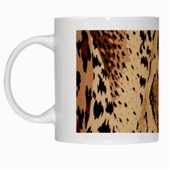 Animal Fabric Patterns White Mugs