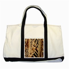 Animal Fabric Patterns Two Tone Tote Bag