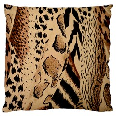 Animal Fabric Patterns Large Flano Cushion Case (one Side)