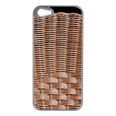 Armchair Folder Canework Braiding Apple Iphone 5 Case (silver)