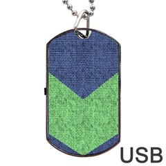 Arrow Texture Background Pattern Dog Tag Usb Flash (two Sides) by Sapixe