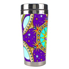 Alien Mandala Stainless Steel Travel Tumblers by Sapixe