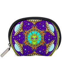 Alien Mandala Accessory Pouches (small)  by Sapixe