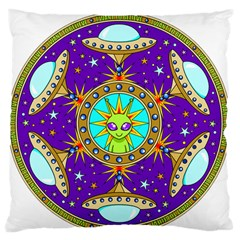 Alien Mandala Large Flano Cushion Case (one Side) by Sapixe