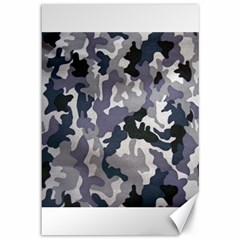 Army Camo Pattern Canvas 12  X 18   by Sapixe